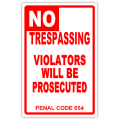 NO TRESPASSING 102