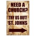 Church Sidewalk Sign 103