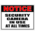 Security sign 105