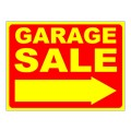 Garage Sale Stock Sign Yellow 18x24