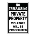 No Trespassing Sign Templates