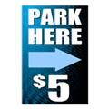 Parking Sidewalk Sign Templates