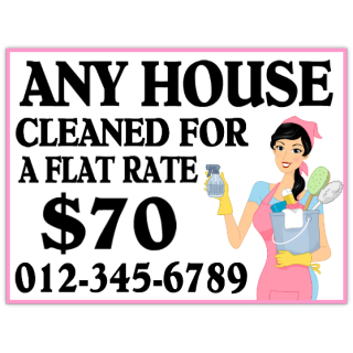 House+Cleaning+Sign+101