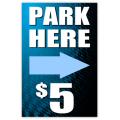 Parking Sidewalk Sign 101