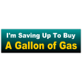 Gallon of Gas Bumper Sticker