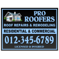 Roofing Sign 105