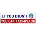 Didn't Vote sticker