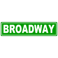 Broadway Sreet Sign