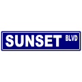 Sunset Street Sign