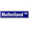 Mulholland Street Sign