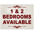 1 and 2 Bedroom Signs 101