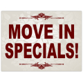Move In Specials Sign 101