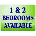 1 and 2 Bedrooms Sign 102