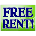 Free Rent Sign 102