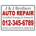 Auto Repair Sign 103
