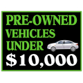 Pre Owned Cars Sign 101