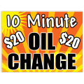 Oil Change Sign 105
