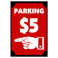 Parking Sidewalk Sign 102