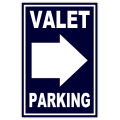 Valet Parking Sidewalk Sign 103