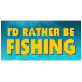 I'd Rather Be Fishing License Plate 101