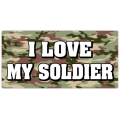 I Love My Soldier License Plate 101