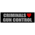 Criminals Love Gun Control Sticker 101