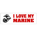 I Love My Marine Sticker 101