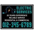 Electrician Sign 106