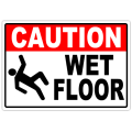 Caution Wet Floor 104