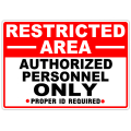 Restricted Area Authorized 103