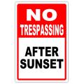 NO TRESPASSING 106