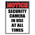Security sign 113