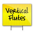 18x24 Blank Yellow Signs with Vertical Flutes
